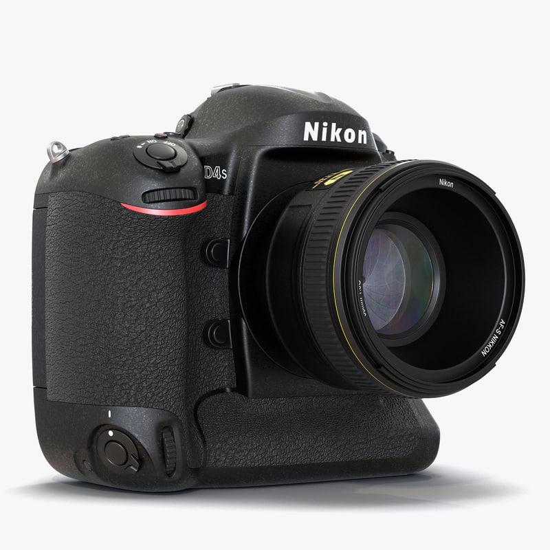 Nikon D4S 3d model 01.jpg