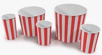 cups popcorn 1 3d max