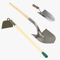 3d model of garden tools