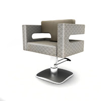 3d chair hairdresser model