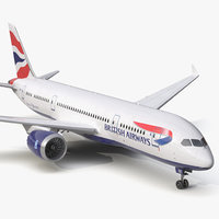 boeing 787 3 british airways 3d obj