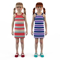 fashion set baby dressed 3d max
