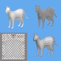 cat modelled polys 3d model