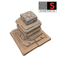 ancient rock stone red 3d max