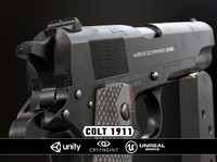Colt 1911 Black & Chrome - Model & Textures