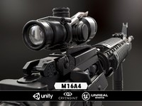 3d obj m16a4 weapon