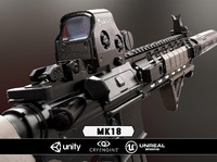 MK18 & Scope - Model & Textures