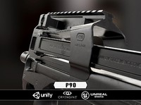 p90 weapon 3d obj