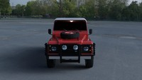 land rover defender 110 3d model