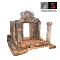 3d red temple 16k model