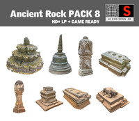ancient rock pack 8 obj