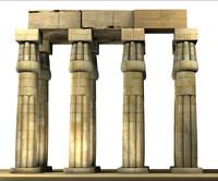 3d model luxor temple amenhotep