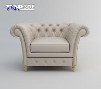 3d model of classical single sofa