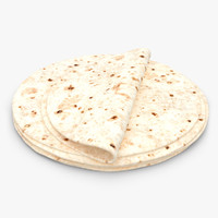 3d model realistic tortilla