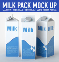 3d model milk carton