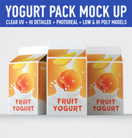 yogurt carton 3 3d model