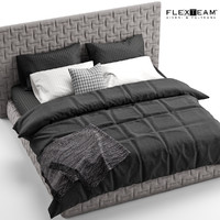 3d flexteam marcel bed black model