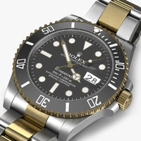3d rolex submariner date black model