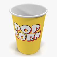 3d cup popcorn 2 model