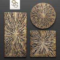 rotten wood wall art 3d model