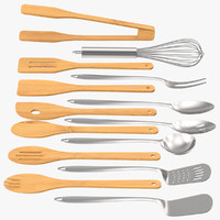 cooking utensil sets 3d c4d