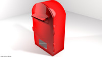 3d model mailbox mail