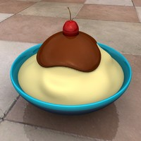 vanilla ice cream 3d model