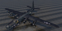 3d model consolidated pb4y-2 privateer bomber