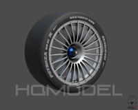 generic standard tire rim obj