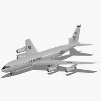 e-8c joint stars usaf 3d model
