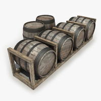 barrels modeled games 3d model