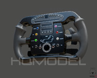 3d model generic steer wheel indy car