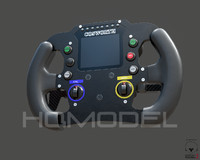3d model of generic steer wheel indy