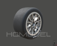 indy light tire rim 3d model