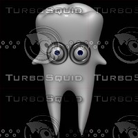 cartoon tooth 3d model