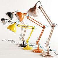 table lamps angled rigged 3d max