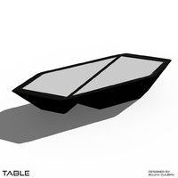 3d table set model