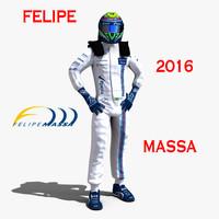 3d model felipe massa 2016