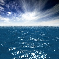 3d ocean surface model