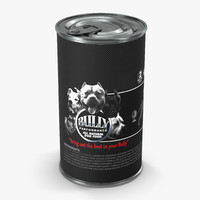 dog food tin 3d model
