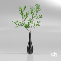 3d model branch vase