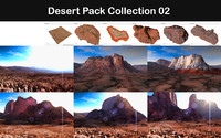 3d desert packed