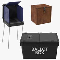 voting machine ballot 3d model