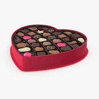 open box chocolates 3d max