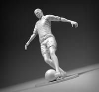 3d stl footballer model