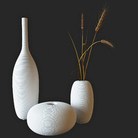 decor wheat vase 3d model