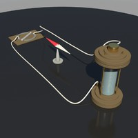 oersted experiment 3d obj