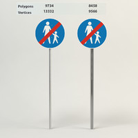 3d model end compulsory footpath