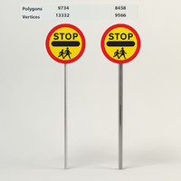 school crossing patrol 3d max