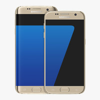 3d model realistic samsung galaxy s7